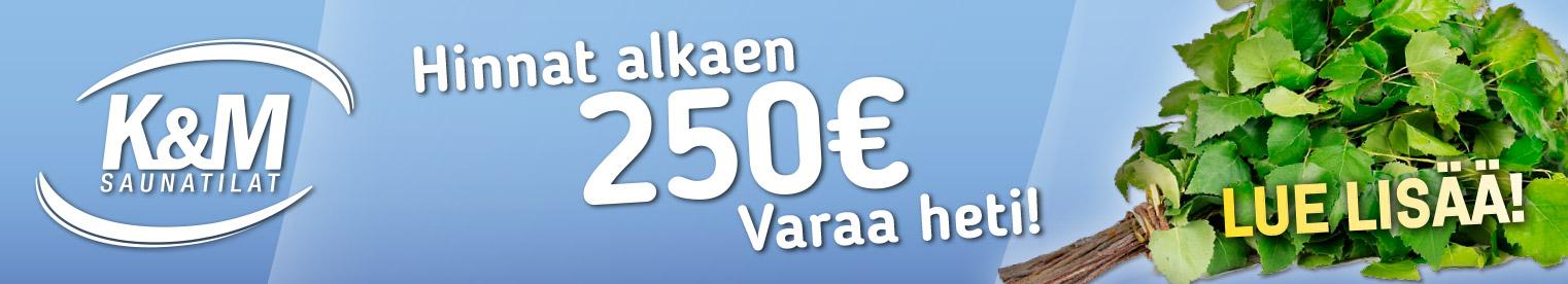 Sauna - Hinnat alkaen 250 €